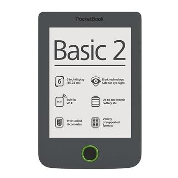 """POCKETBOOK 614 Basic 2, PB614W-Y-WW, šedý (grey), ebook reader, 800x600, 4GB, 6"""", Wi-Fi"""