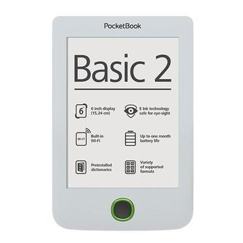 """POCKETBOOK 614 Basic 2, EBKPK1531, bílý (white), ebook reader, 800x600, 4GB, 6"""", Wi-Fi"""