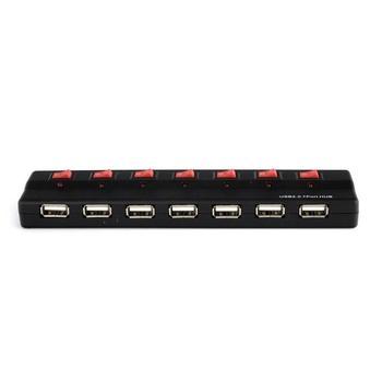 PREMIUMCORD sedmiportový USB HUB s externím napájením, ku2hub7sw, USB HUB, externí, 7 portů USB 2.0