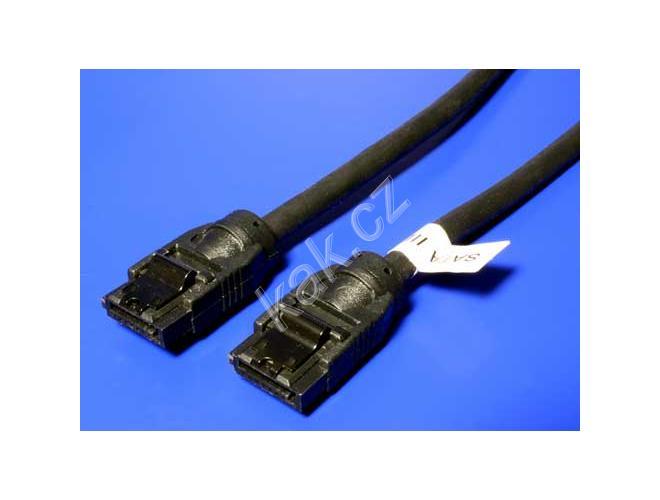 82209e498 ROLINE kabel SATA 6 Gb/s, 1m, západky 11.03.1553