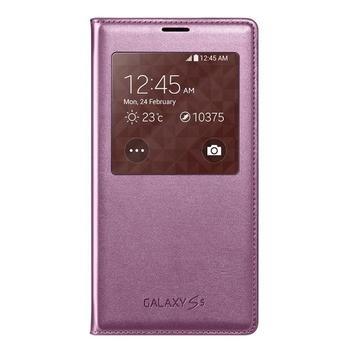SAMSUNG EF-CG900BP S-View, EF-CG900BPEGWW, fialová (purple), flipové pouzdro pro Samsung Galaxy S5 (SM-G900)