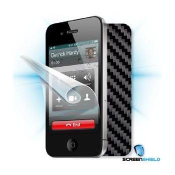 SCREENSHIELD iPhone 4S + skin carbon černá, APP-IPH4S-CB, ochranná fólie na displej