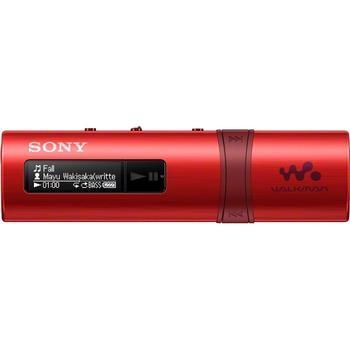 SONY NWZ-B183F, NWZB183FR.CEW, červený (red), přenosný MP3 přehrávač, 4GB, USB slot, displej, MP3, WMA, FM tuner, USB 2.0, výdrž až 20hod.