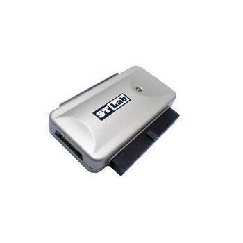 ST-LAB U-390 USB TO SATA+PATA ADAPTER, U2-J04-DB11-11-00011, adaptér / konvertor, redukce, USB 2.0, IDC40F (IDE konektor), ->SATA (F)