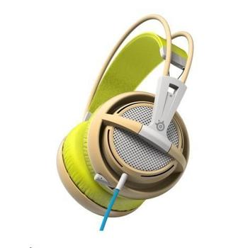 STEEL SERIES Siberia 200, 51137, Gaia Green, herní sluchátka, ovládání hlasitosti, jack 3,5mm, s mikrofonem, 32 Ohm