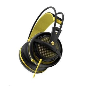 STEEL SERIES Siberia 200, 51138, Proton Yellow, herní sluchátka, ovládání hlasitosti, jack 3,5mm, s mikrofonem, 32 Ohm