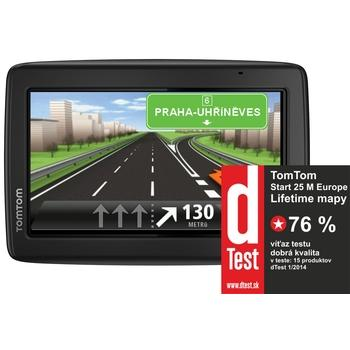 "TOMTOM START 25 Europe LIFETIME mapy, 1EN5.002.18, GPS navigace do auta, 4GB, micro SD, 5"" displej, RDS/TMC, 45 zemí Evropy"