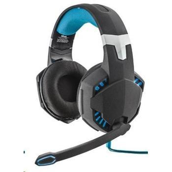 TRUST GXT 363, 20407, šedo-modré, herní sluchátka, ovládání hlasitosti, s mikrofonem, USB, vibrační
