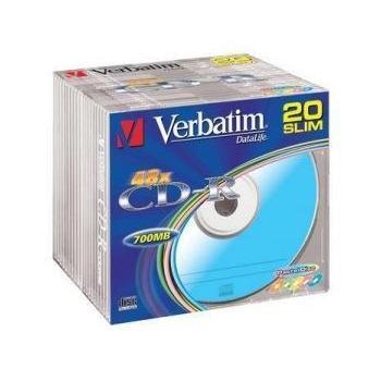 VERBATIM CD-R 52x DataLife, 43415, Extra Protection, slim krabička, CD-R médium, 80min/700MB
