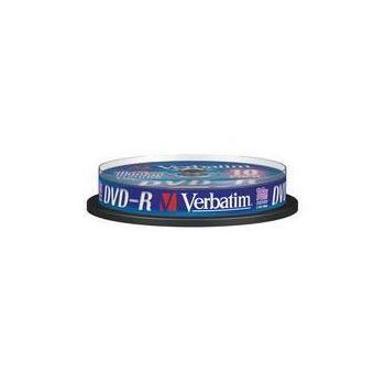VERBATIM DVD-R 16x DatalifePlus, 43523, 10ks cakebox, DVD-R médium, 4,7GB