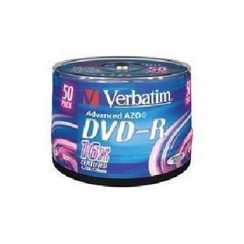 VERBATIM DVD-R 16x DatalifePlus, 43548, 50ks cakebox, DVD-R médium, 4,7GB