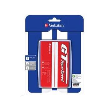 """VERBATIM GT SUPERSPEED 1TB, 53082, červený (red), přenosný pevný disk, 8MB, 5400ot./min., 2,5"""", USB 3.0"""