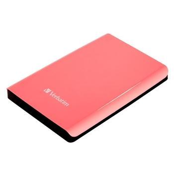 """VERBATIM Store """"n"""" Go 1TB, 53173, růžový (pink), přenosný pevný disk, 5400ot./min., 2,5"""", USB 3.0"""
