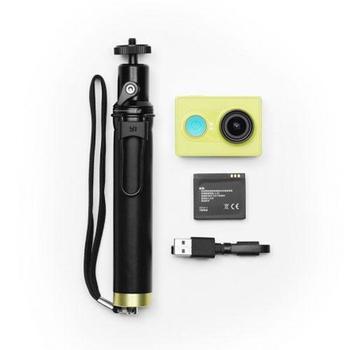 XIAOMI Yi Sports Camera + Selfie tyč, , outdoorová kamera, 16Mpx, 10x optický zoom, Micro SD/SDHC, USB2.0, 1920x1080px, Wi-Fi